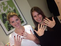 Gorgeous bride Kate and her bridesmaid Charlotte at their bridal pamper party hosted by The Mani Pedi Wax Club